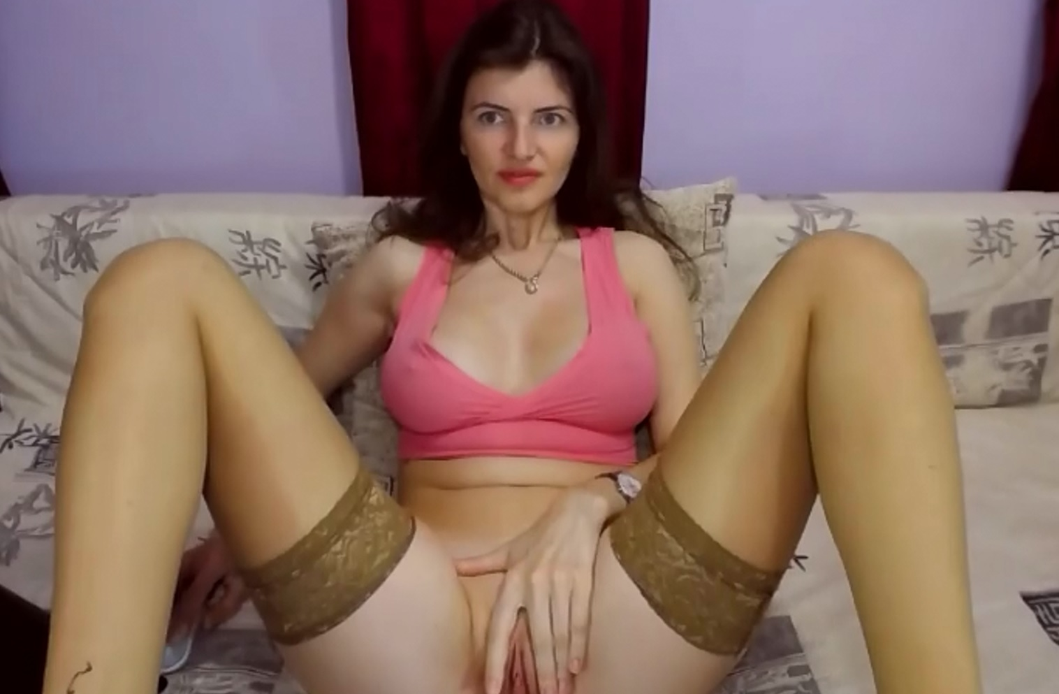 UrBedroomEyes big boobs and pussy teasing